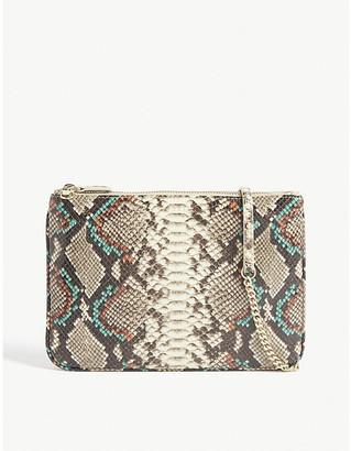 Sandro Addict snake print leather crossbody bag