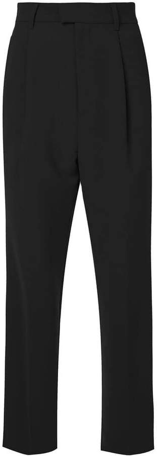 G.V.G.V. pleated front tapered trousers