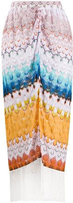Missoni Mare Patterned Fringed Edge Sarong Skirt