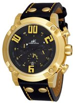 Adee Kaye Men's AK7280-MG Analog Display Japanese Quartz Black Watch