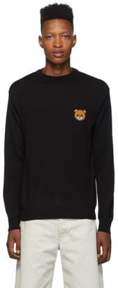 Moschino Black Teddy Crewneck Sweater