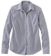 L.L. Bean Signature Essential Button-Front Shirt, Stripe