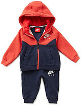 Nike Baby Boys 3-9 Months Color Block Core Fleece Hoodie Jacket & Solid Pant Set