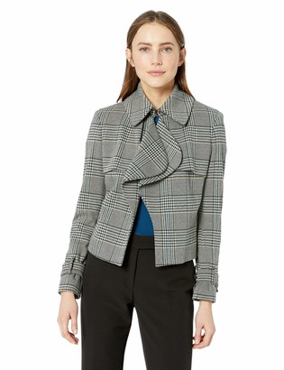 Anne Klein Women's Houndstooth Trench Jacket