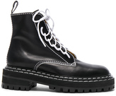 Proenza Schouler Leather Boots in Black.