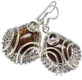 "Ana Silver Co. Ana Silver Co Polka Dot Jasper, Rainbow Moonstone 925 Sterling Silver Earrings 1 5/8"" - Handmade Fashion Gemstone Jewelry EARR337369"