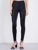 Area Britney skinny metallic-jacquard trousers