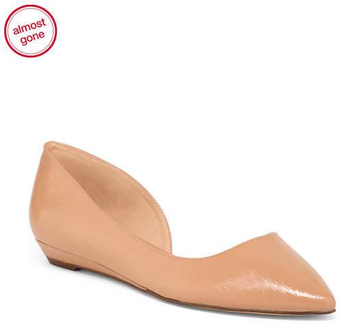 Patent Pointy Toe Flats