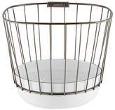 Canasta Enameled Wire Basket W/ Base