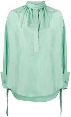 Christian Wijnants Band-Collar Silk Blouse