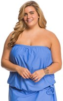Athena Plus Size Cabana Solids Soft Cup Bandini Top 8127679