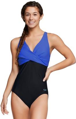 Speedo Women's Twist-Front X Back One-Piece Swimsuit