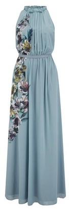 Dorothy Perkins Womens Little Mistress Multi Colour Floral Print Halter Maxi Dress