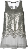 Twin-Set sequin embellished tank top - women - Viscose - 38