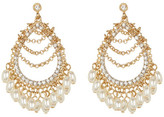 Natasha Accessories Oval Faux Pearl Earrings
