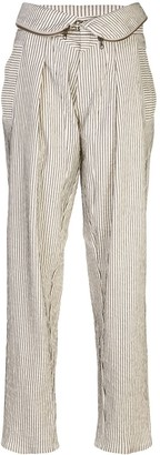 TRE by Natalie Ratabesi Stripe Print Foldover Trousers