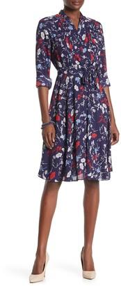 Nanette Lepore Printed Henley Shirt Dress