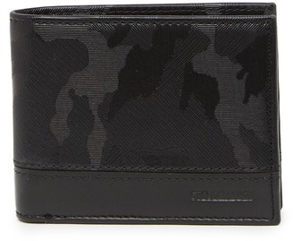 Steve Madden Camo Print Leather Billfold Wallet