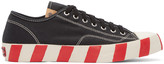 Visvim Black Skagway Lo Stripes Sneakers