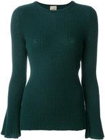 Nude slim fit ribbed sweater - women - Wool - 42