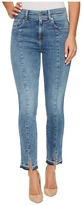 7 For All Mankind The Ankle Skinny w/ Seams Front Splits in Rockaway Beach Women's Jeans