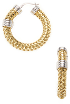 Roberto Coin Primavera 18K Yellow & White Gold Hoop Earring