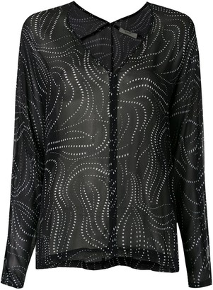 Egrey Dots long sleeved blouse