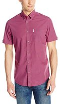 Ben Sherman Men's Classic Short Sleeve Gingham Button Down Shirt
