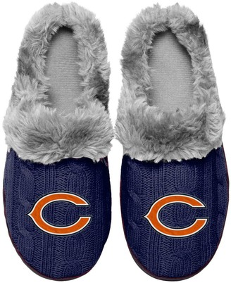 Women's Chicago Bears Cable Knit Slide Slippers