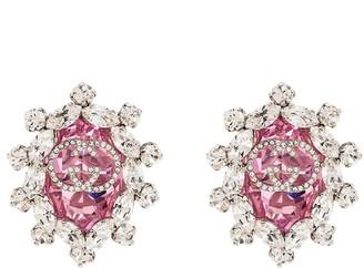 Gucci GG logo clip on earrings