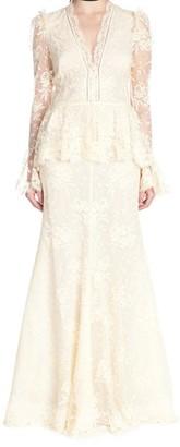 Alexander McQueen Long-Sleeved Lace Dress