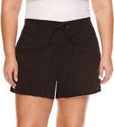 Boutique + + Woven Cargo Shorts - Plus