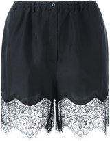 Faith Connexion lace detail shorts - women - Silk/Polyamide - XS