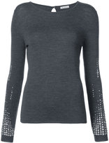 Oscar de la Renta crystal-embellished sweatshirt