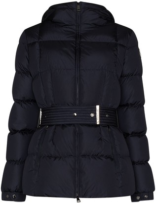 Moncler Hooded Belted Padded Jacket