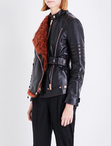 Proenza Schouler Asymmetric leather biker jacket