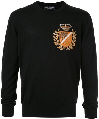 Dolce & Gabbana Embroidered Crest Sweater