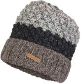ALMA 100% Fine Wool Hand Knitted Winter Popcorn Design Ski Tuque with Soft Polar Fleece Lining