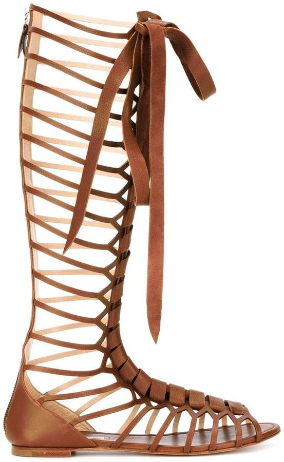 Casadei knee-length strappy daytime sandals