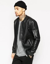Religion Exclusive Faux Leather Jacket Bomber