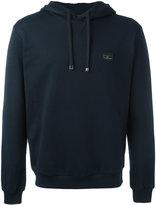 Dolce & Gabbana logo plaque hoodie - men - Cotton/Calf Leather/Zamak - 50