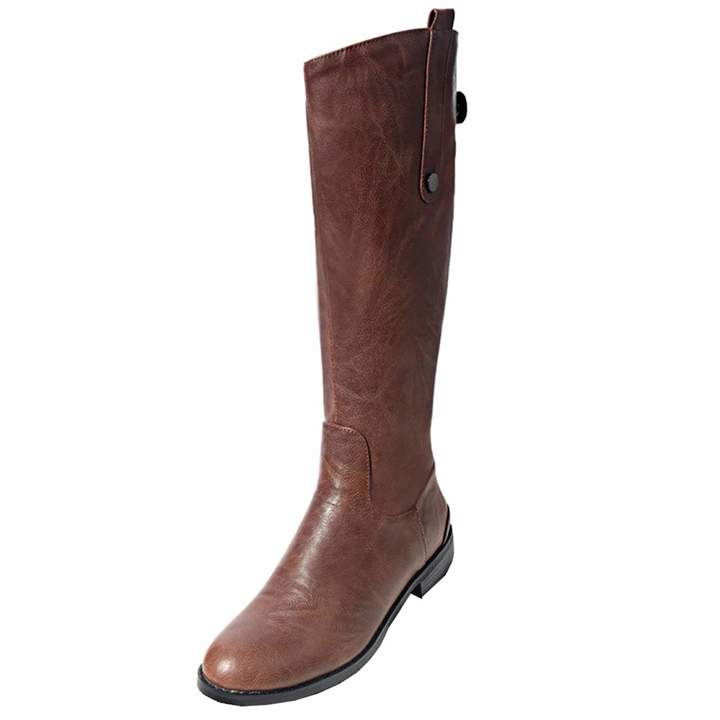 f310651724ef8 Artfaerie Women's Flat Cowboy Knee High Boots with Zip Faux Fur Warm  Classic Western Shoes(US 6, )