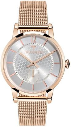 Trussardi Women's T-Genus Analog-Quartz Stainless-Steel-Plated Strap