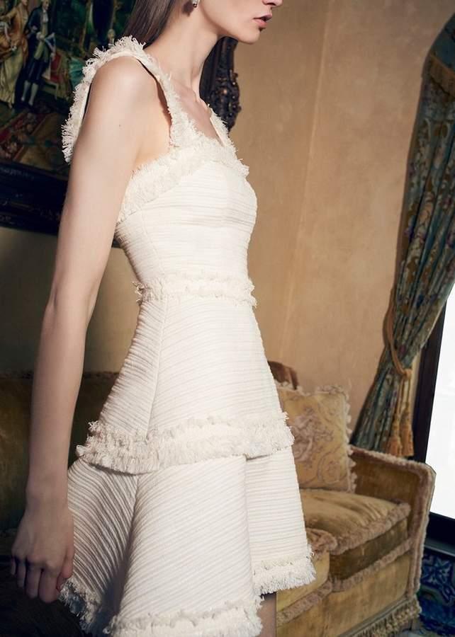 Alexis Fabianna Dress Ivory Tweed