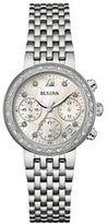 Bulova Women's Stainless Steel Chronograph Watch - 96R204