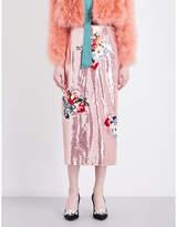 Erdem Sacha sequinned skirt