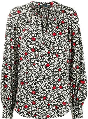 Polo Ralph Lauren Floral-Print Tie-Neck Blouse