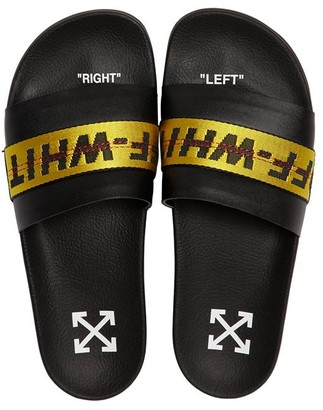 Off-White Off White LOGO WEBBING RUBBER SLIDE SANDALS