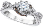 LeVian Le Vian® Bridal Twisted Diamond Engagement Ring (1 ct. t.w.) in 14k White Gold