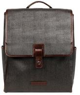 Wilsons Leather Mens City Laptop Backpack W/ Leather Trim Dark Brown